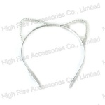 Beaded Cat Ear Alice Band