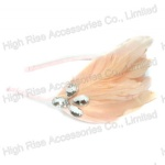 Pink Feather And Crystal Alice Band