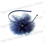 Blue Mesh Flower Alice Band