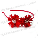 Pom Pom Flower With Pearls Ornament Alice Band