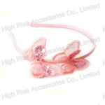 Sequin Silk Butterfly Alice Band