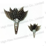 Dots Black Feather Snap Clip
