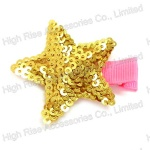 Golden Sequin Star Duck Clip