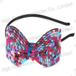 Colorful Sequin Bow Alice Band
