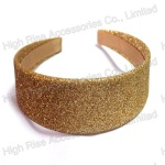 Golden Glitter Wide Alice Band