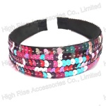 Colorful Sequin Wrap Alice Band