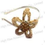 Beaded Wire Flower Alice Band