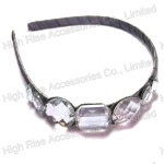Big Clear Crystal Alice Band