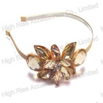 Champagne Crystal Flower Alice Band