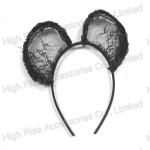 Black Lace Ear Alice Band