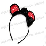 Polka Dots Ear With Bow Alice Band