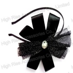 Glitter Mesh And Ribbon Flower Alice Band