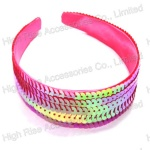 Sequins Pink Color Alice Band