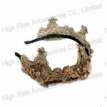 Colored Crystal Lace Crown Alice Band