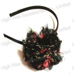Rustic Floral Chiffon And Mesh Flower Alice Band