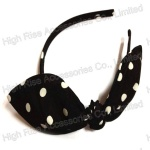 Dotted Chiffon Wire Bow Alice Band