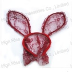 Lace Veil Rabbit Ear Alice Band