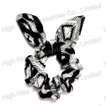 white Leaves Pattern Scrunchie