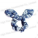 Floral Pattern Jean Ear Scrunchie