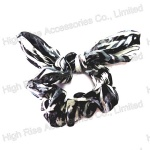 White and Black Pattern Scrunchie