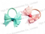 Ribbon Flower Bow Hair Elastic