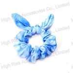 Blue Dyeing Fabric Scrunchie