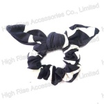 White And Black Bow Scrunchie