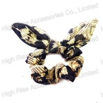 Winter Floral Pattern Bow Scrunchie