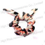 Winter Animal Pattern Bow Scrunchie