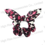 Animal Pattern Bow Chiffon Scrunchie