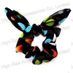 Large Colored Polka Dots Wired Tail Scrunchie