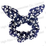 Butterfly Pattern Wired Bow Scrunchie