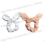 Hollow-out Flowers Pattern Lace Scrunchie