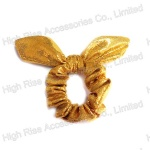 Golden Glitter Wired Bow Scrunchie