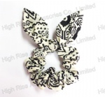 GEO Pattern Hair Scrunches, Ponytail Holder, Hair Elastic