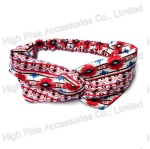 Red Ethnic GEO Pattern Headwrap