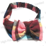 British Grid Bow Headband