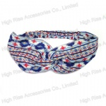 Colored Pattern Two-Piece Sewed Headwrap