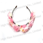 Two-Tune Color Flower Crown Alice band, Garland Headband