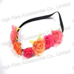 Colored Rose Flower Garland, Flower Crown